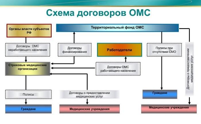 схема договоров ОМС